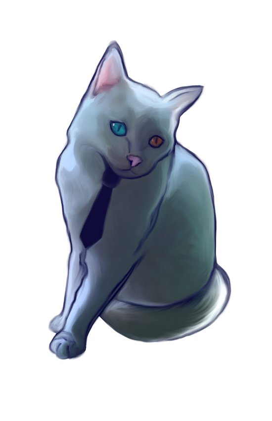 bowie cat Art Print