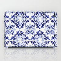 Blue Tile Pattern VI - A… iPad Case