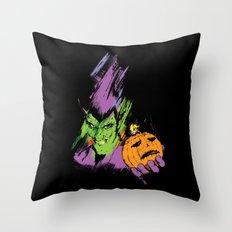 The Green Goblin Throw Pillow