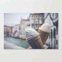 Love And Ice Cream Canvas Print