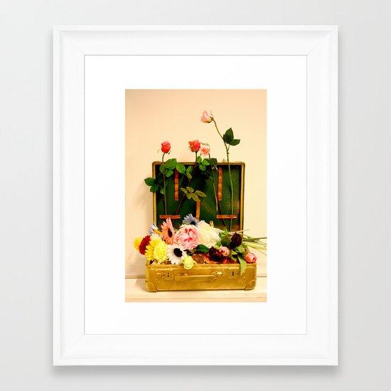 Travel happiness Framed Art Print