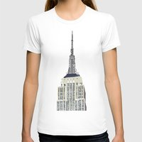 Empire Womens Fitted Tee White SMALL