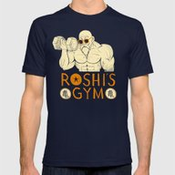 Roshi's Gym Mens Fitted Tee Navy SMALL