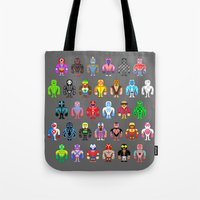Pixel Luchadores Tote Bag