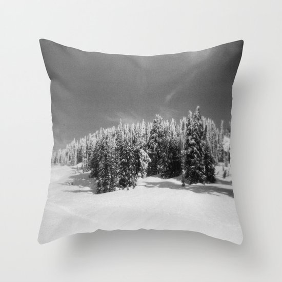 snow-capped Throw Pillow