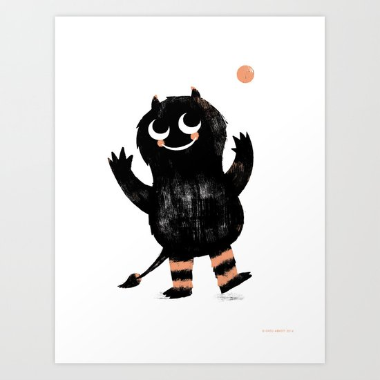 Sunday's Society6 | Black monster art print