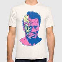 Terminator (neon) Mens Fitted Tee Natural SMALL