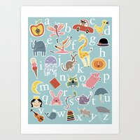 X is Always for Xylophone Art Print