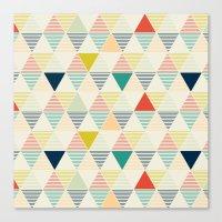 Triangle Geometrics Canvas Print