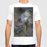 Mr. Squirrel! Mens Fitted Tee White SMALL