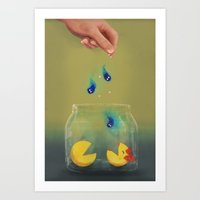 Pac Man Pets Art Print