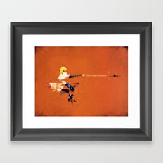 The Yellow Flash Framed Art Print