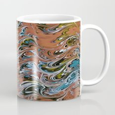 Marble Abstract In Red Mug