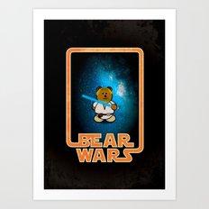 Bear Wars - Duke Cubpoker Art Print