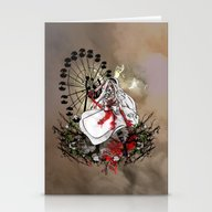 Hysteria In Rust Stationery Cards