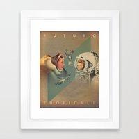 Tropical Future Framed Art Print