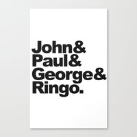 John, Paul, George & Rin… Canvas Print