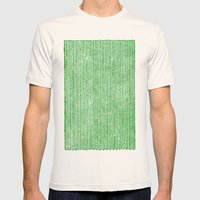 Stockinette Green Mens Fitted Tee Natural SMALL