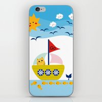 Sailing Cat iPhone & iPod Skin