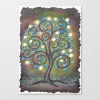 Brown Mystic Tree Canvas Print