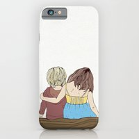 iPhone & iPod Case featuring Boy & Girl on Log by Lucita Peek