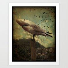 Bird Shark Art Print