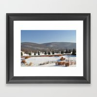 Winter Snow Scene Landsc… Framed Art Print