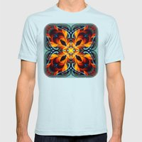 Mandala #7 Mens Fitted Tee Light Blue SMALL