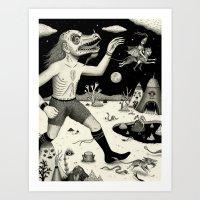 Escape! Art Print