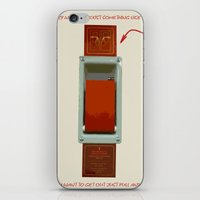 Just Pull And Go! iPhone & iPod Skin