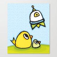 Egg-Ship Canvas Print