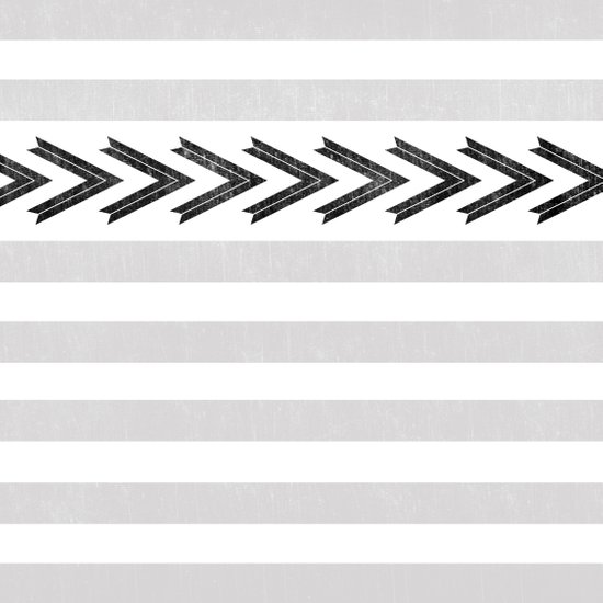 ARROW STRIPE {GRAY} Art Print