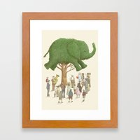 The Night Gardener - Elephant Tree Framed Art Print