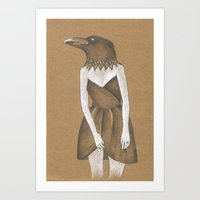 ANIMAL INSTINCTS -BIRD GIRL Art Print