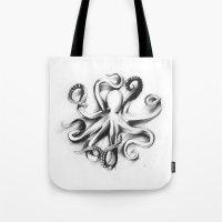 Flat Octopus Tote Bag