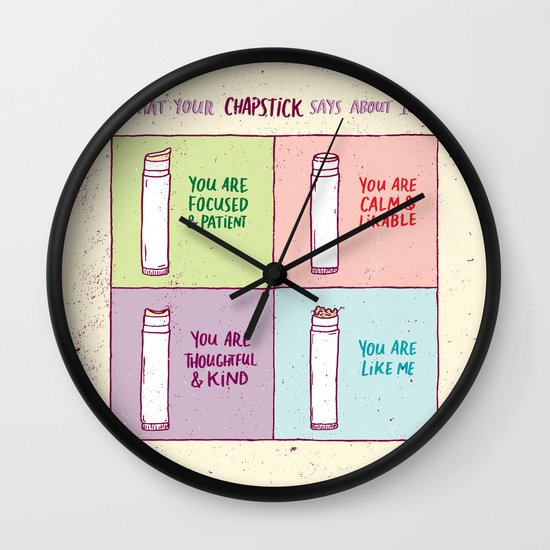 What Your Chapstick Says About You Wall Clock
