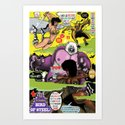 Space Chick & Nympho: Vampire Warrior Party Girl Comix #2 - Comic Book Cover Art Print