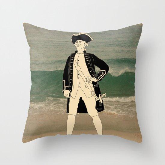Great explorers - Captain James Cook Throw Pillow