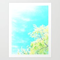 Bright Trees Against Blue Art Print