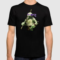 Polygon Heroes - Donatello SMALL Black Mens Fitted Tee