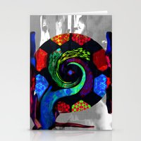 Patchwork Swirl Stationery Cards