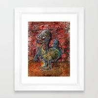 Dickbutt gone zombie Framed Art Print