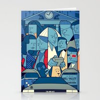 back to the future Stationery Cards featuring Back to the Future by Ale Giorgini