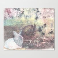 A Rabbit and a Dying City Canvas Print