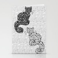 Black Cat White Cat Stationery Cards