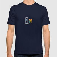 Captivity Mens Fitted Tee Navy SMALL
