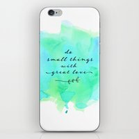 Do Small Things With Gre… iPhone & iPod Skin