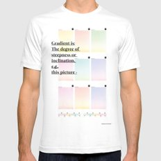 Gradient (English) SMALL Mens Fitted Tee White