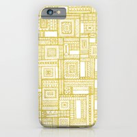 iPhone & iPod Case featuring Golden Doodle patchwork by Katy Clemmans