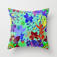 Flowers Explosion Throw Pillow